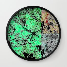 Grunge paint stains texture Wall Clock