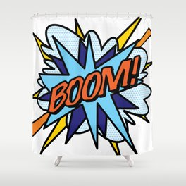 Comic Book Pop Art BOOM Shower Curtain