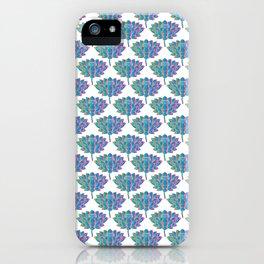 Blue Rainbow Lotus Holly Flowers iPhone Case