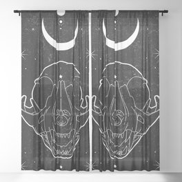 Moon Cat Sheer Curtain