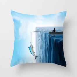 Fisherman's Edge Throw Pillow