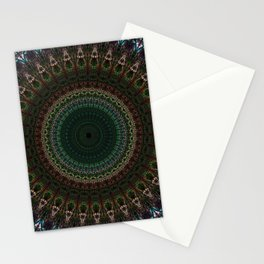 Detailed mandala with spikes Stationery Cards