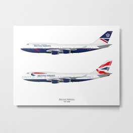 British Airways 747 Metal Print