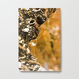 Goldie Seven Foil Face Metal Print