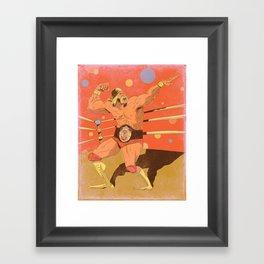 The Hulkster! Framed Art Print