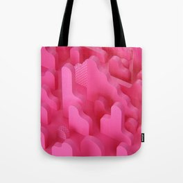 Abstract Shapes in Pink Tote Bag