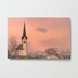 Tabor church at sunrise Metal Print