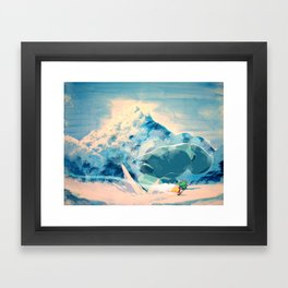 Icy Clash Framed Art Print