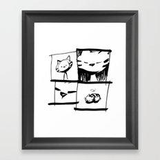 minima - IA - catnap Framed Art Print
