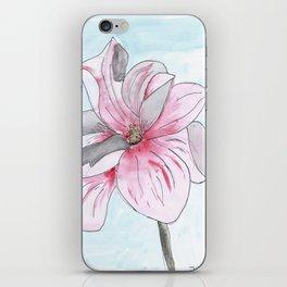 Magnolia Flower watercolor iPhone Skin