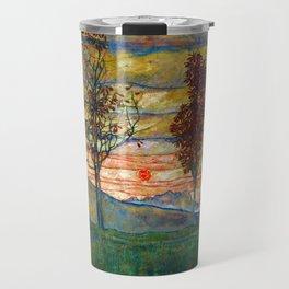 Four Trees - Egon Schiele Travel Mug