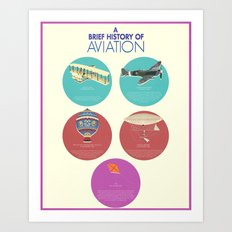 A Brief History of Aviation Art Print