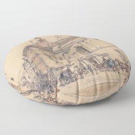 Michaelerplatz And Carbon Market In Vienna 1844 by Rudolf von Alt | Reproduction Floor Pillow