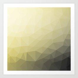 Light yellow grey ombre gradient mesh pattern Art Print