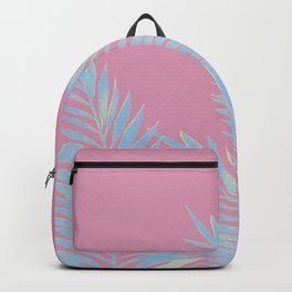 Palm Leaves Blue And Pink Backpack
