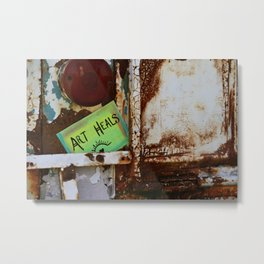 Art Heals Metal Print