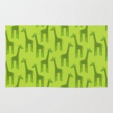 Giraffes-Green Rug