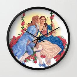 la belle et la bête Wall Clock
