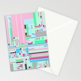 Pink, Blue & Green Stationery Cards