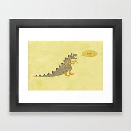 Not a very scary dinosaur Framed Art Print