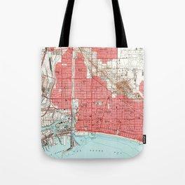 Vintage Map of Long Beach California (1949) 3 Tote Bag