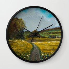 Sunflowers field Wall Clock