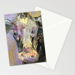 Colorful Cow Stationery Cards