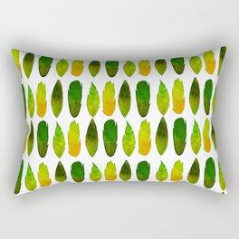 Green-yellow feathers Rectangular Pillow