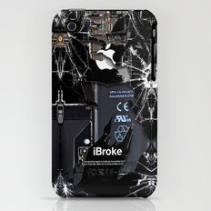 Broken, rupture, damaged, cracked black apple iPhone 4 5 5s 5c, ipad, pillow case and tshirt Slim Case iPhone (3g, 3gs)