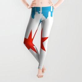 Chicago Flag Leggings