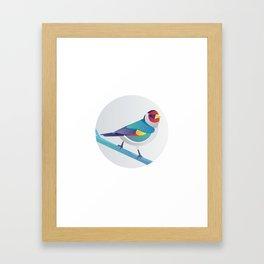 BIRD ON A BRANCH 3 Framed Art Print