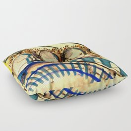 set drawing / Hamletmachine Floor Pillow