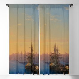 View of Constantinople and the Bosphorus Landscape Masterpiece by Ivan Aivazovsky Blackout Curtain