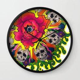 Deadly Mandala. Wall Clock