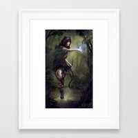 merida Framed Art Prints featuring Merida by aStripedUnicorn