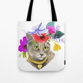 Miss Elsa - gray kitty Tote Bag