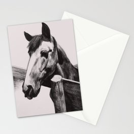 Horse Greeting A Stranger Stationery Cards