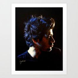 Blue Zayn Art Print