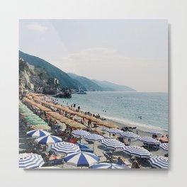 Sunbathers in Cinque Terre Metal Print