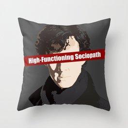 Sherlock: High-Functioning Sociopath Throw Pillow