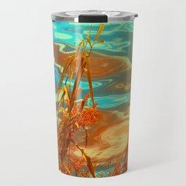 Autumn Nature Water Colors Travel Mug