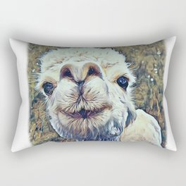 Baby White Alpaca Rectangular Pillow