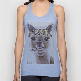 Holly The Alpaca, Alpaca Art Unisex Tank Top