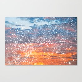 Acrylic Sunset Spatters Canvas Print