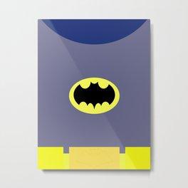 Adam West - Bat-Man Minimalist Metal Print