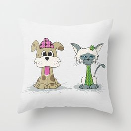 Dylan Dog and Clarence Cat Throw Pillow