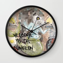 Dungeon Babe Wall Clock