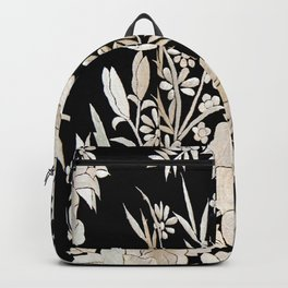 Black and White Flowers by Lika Ramati Backpack