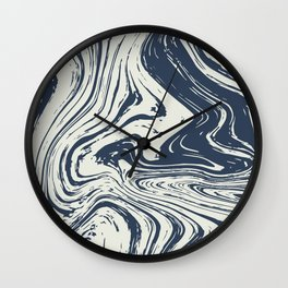 Blue marble abstract texture Pattern Wall Clock
