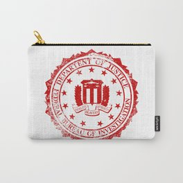 FBI Rubber Stamp Carry-All Pouch